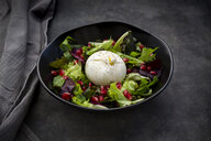 Oriental salad with mint, pistachios, pomegranate seeds and burrata cheese - LVF07636