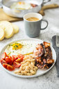 Breakfast with tomatoes, white beans, - GIOF05298