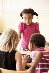 Children using digital tablet in classroom - ASTF00074