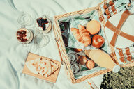 High angle view of a fresh breakfast - INGF11856