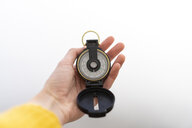 Woman's hand holding compass - AFVF02188