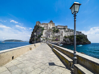 Italy, Campania, Naples, Gulf of Naples, Ischia Island, Aragonese Castle on rock island - AMF06598