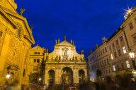 Czechia, Prague, Old town, Salvator Church at blue hour - JUNF01662