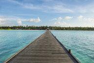 Maledives, Ari Atoll, Nalaguraidhoo, Sun Island, empty pier - RUNF00727
