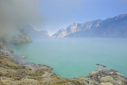 Indonesia, Java, acid Ijen crater lake - RUNF00771