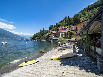 Italy, Lombardy, Varenna, Old town, Lake Como, Lakeshore - AMF06617