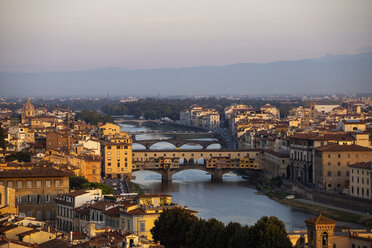 Italy, Florence, Ponte Vecchio in the morning light - MRAF00361