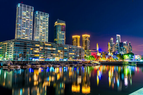 View on modern Architecture in the famous Neighborhood of Puerto Madero in Buenos Aires, Argentina. - SPCF00310