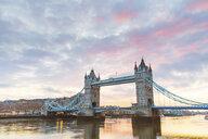 United Kingdom, England, London, Tower Bridge at sunrise - WPEF01267