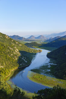 Montenegro, river Crnojevic seen from Pavlova Strana lookout - SIEF08307