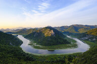 Montenegro, loop of river Crnojevic at sunriseseen from Pavlova Strana lookout - SIEF08310