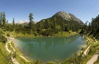 Austria, Styria, Tauplitz, Totes Gebirge, Lake Maerchensee - WWF04776