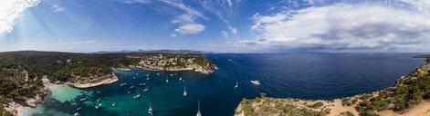 Spain, Mallorca, Palma de Mallorca, Aerial view of Calvia region, El Toro, Portals Vells - AMF06649