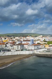 Portugal, Azores, Terceira, Angra do Heroismo, Overlook over the town - RUNF00838