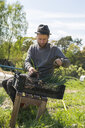 Gardener working on farm in Sweden - FOLF09689