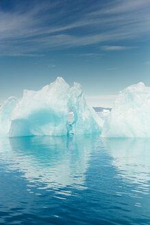 Icebergs floating on sea against sky - ASTF01945