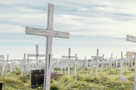 Crosses at cemetery against sky - ASTF01951