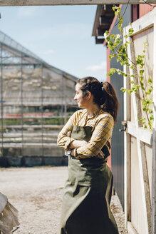 Portrait of garden centre worker - FOLF09963