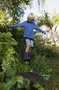 Boy playing in garden - FOLF10224