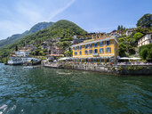 Italy, Lombardy, Lake Como, Argegno, townscape - AMF06677
