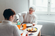 Girlfriends having lunch at home - CUF46675