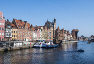 Poland, Gdansk, Hanseatic League houses on the Motlawa river - RUNF00901