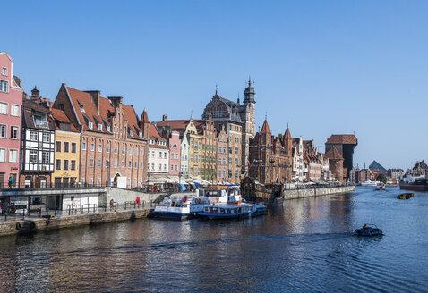 Poland, Gdansk, Hanseatic League houses on the Motlawa river - RUNF00901