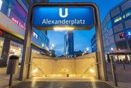 Germany, Berlin, Underground station Alexanderplatz - TAM01112