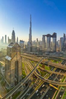 Middle East, United Arab Emirates, Dubai, Burj Khalifa, sunrise - SMAF01162