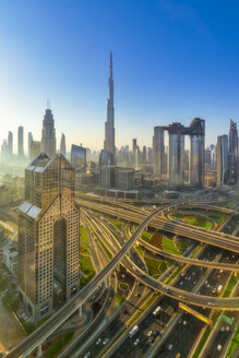 United Arab Emirates, Dubai, Burj Khalifa at sunrise - SMAF01162