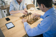 Two men playing chess - JOSF02857