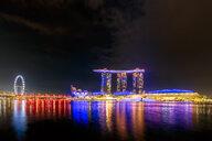 Singapore, Marina Bay Sands Hotel at night - SMAF01195