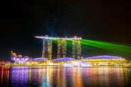 Singapore, Marina Bay Sands Hotel at night - SMAF01198