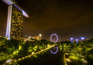 Singapore, Marina Bay Sands Hotel at night - SMA01201