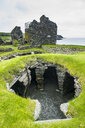 United Kingdom, Scotland, Shetland Islands, Mainland, Jarlshof prehistoric archaeological site - RUN00971