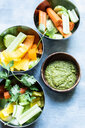 Bowl of dill pesto served with vegetables - CUF46980