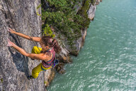 Woman rock climbing, Squamish, Canada - CUF47031