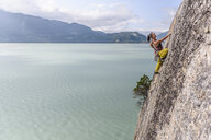 Woman rock climbing, Squamish, Canada - CUF47052