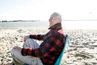 Senior adult man enjoying beach - CUF47727