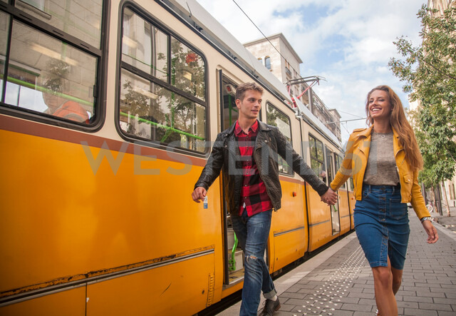 Couple on city break, Budapest, Hungary - CUF47769