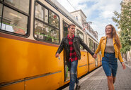 Couple on city break, Budapest, Hungary - CUF47769