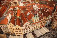 View from Astronomical Clock tower, Old Town Square, Prague, Czech Republic - CUF47790