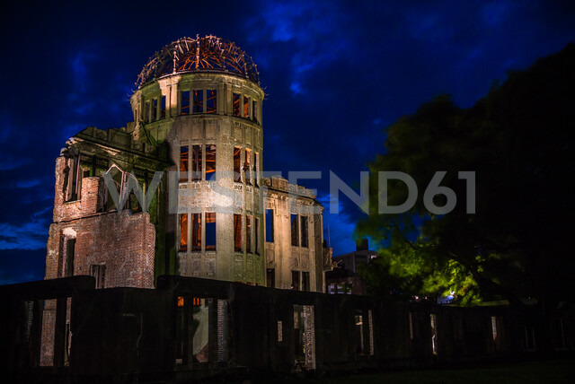 The Atomic Bomb dome in Hiroshima, Japan one of the few buildings left standing after the bomb hit - ASTF02126