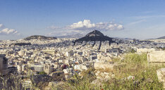 Blick auf die Stadt Athen und den Lykavittos, Lykabettus, Stadtberg, Athen, Griechenland - MAMF00347