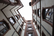 Germany, Hamburg, Speicherstadt, old warehouse, courtyard - WIF03739