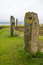 Unesco world heritage sight the stone circle, Ring of Brodgar, Orkney Islands, United Kingdom - RUNF00989