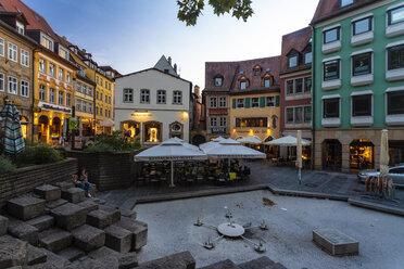Germany, Bavaria, Bamberg, old town at dusk - TAM01149