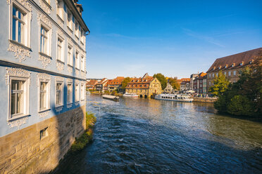 Germany, Bavaria, Bamberg, old town, Regnitz river - TAMF01161