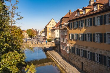 Germany, Bavaria, Bamberg, old town, Regnitz river - TAMF01164