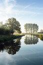 River Mark in early morning sunlight, Netherlands - CUF47930